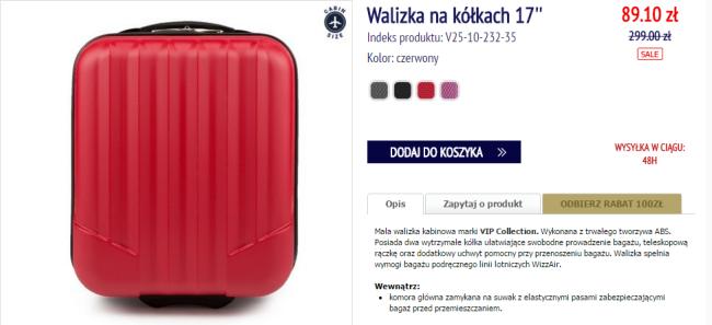 13d5168ff15aa Idealna walizka do Wizz Air za 89 PLN. Od Wittchen - Fly4free.pl ...
