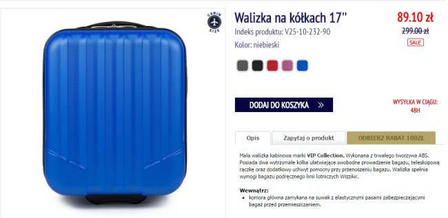 b8d001c1f41a2 Idealna walizka do Wizz Air za 89 PLN. Od Wittchen - Fly4free.pl ...