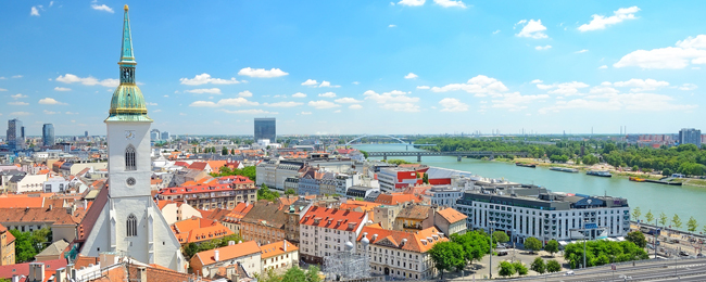 bratyslawa panorama miasta