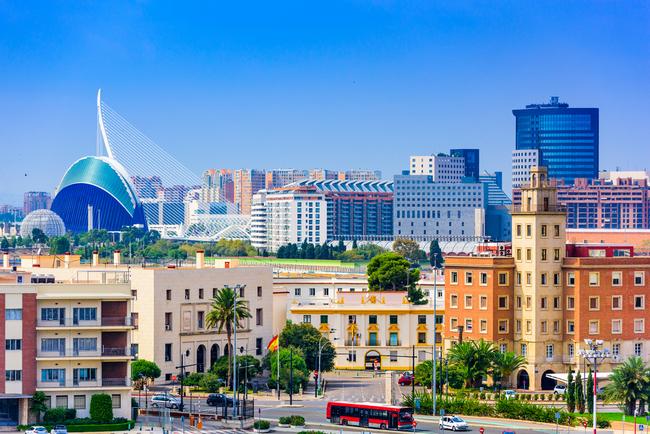 Walencja panorama miasta