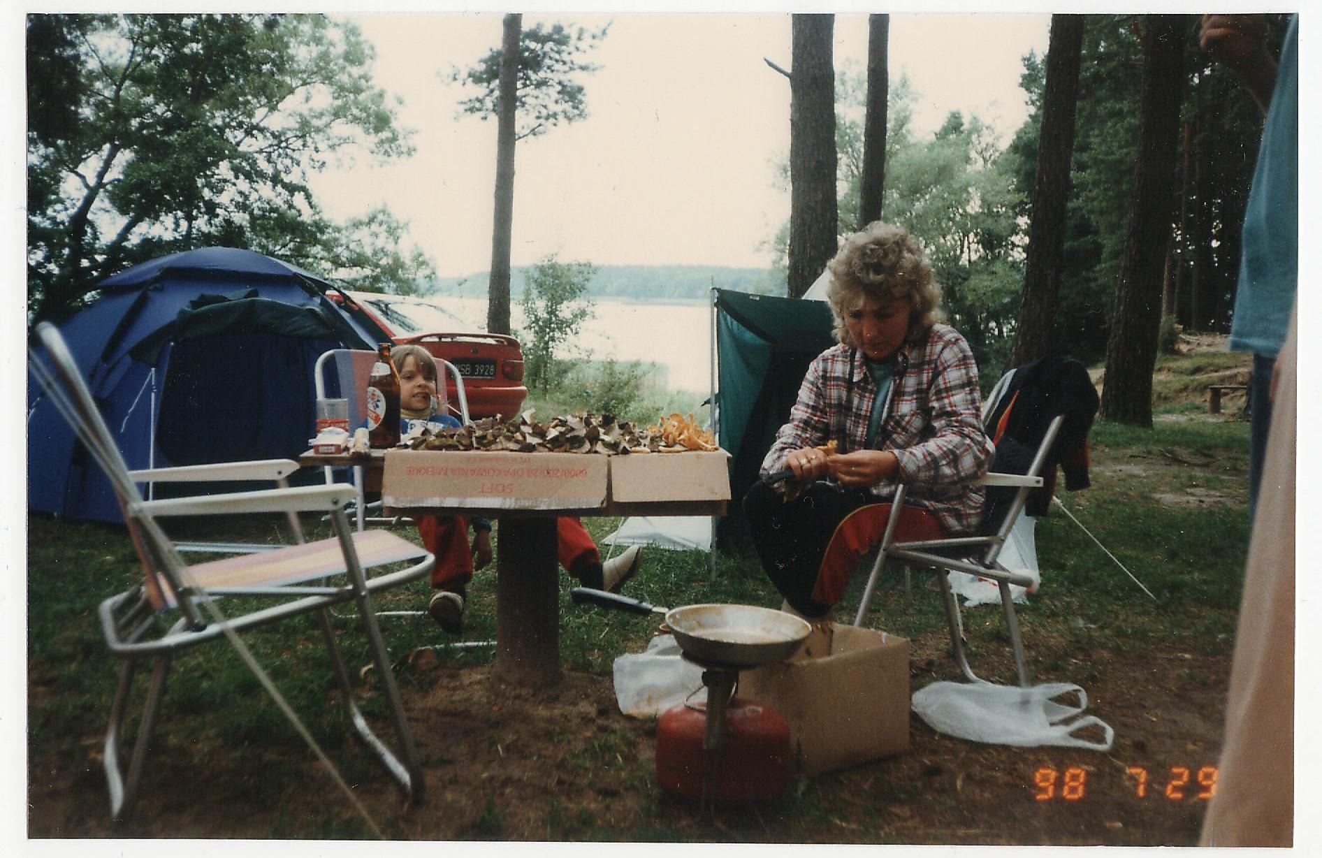 kemping w latach 80