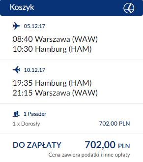 rezerwacja lotów z Warszawy do Hamburga
