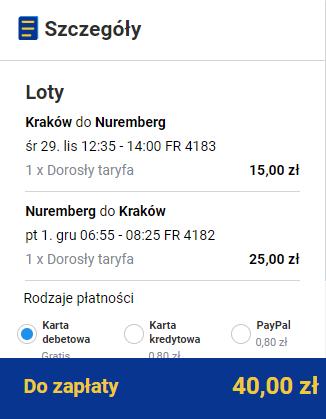 rezerwacja biletów z Krakowa do Norymbergi