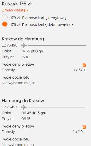 rezerwacja biletów z Krakowa do Hamburga