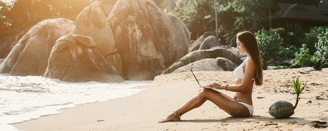 kobieta na plazy