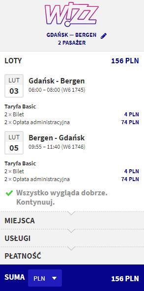 rezerwacja lotów z Gdańska do Bergen