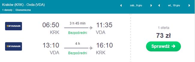 rezerwacja lotów z Krakowa do Izraela