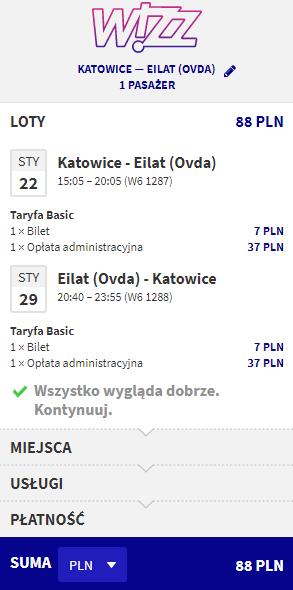 rezerwacja lotów z Katowic do Izraela