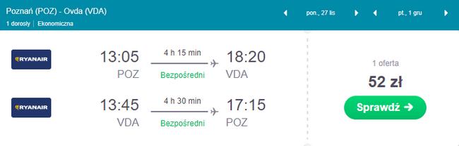 rezerwacja lotów z Poznania do Izreala