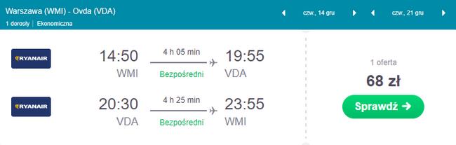 rezerwacja lotów z Warszawy do Izraela