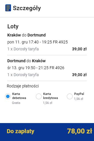 rezerwacja lotów z Krakowa do Dortmundu