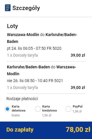 rezerwacja lotów z Warszawy do Baden Baden