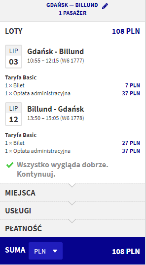rezerwacja lotów z gdańska do billund