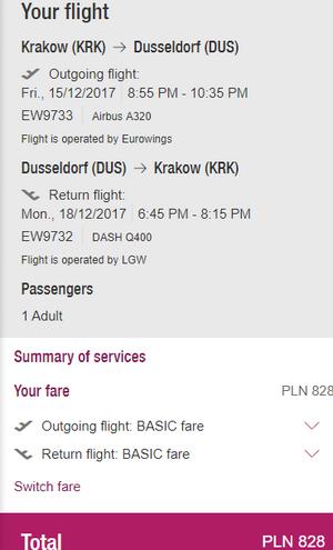 rezerwacja biletów z Krakowa do Dusseldorfu