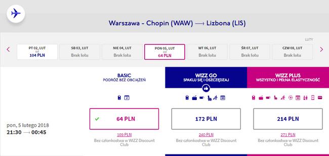 rezerwacja lotu do lizbony