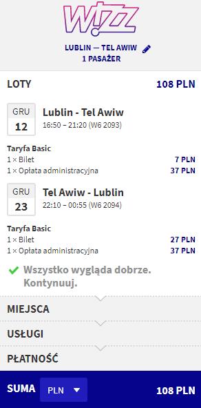 rezerwacja biletów do Tel Awiwu