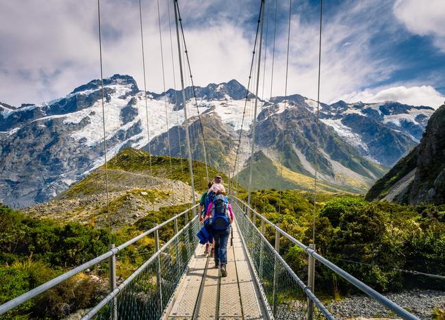 widok na góry w Nowej Zelandii