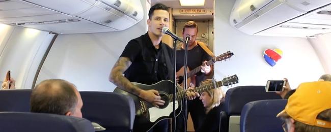 Koncert na pokładzie Southwest Airlines