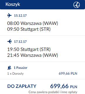 rezerwacja biletów z Warszawy do Stuttgartu