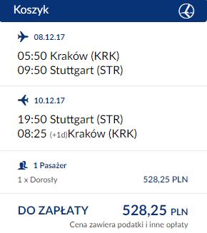 rezerwacja biletów z Krakowa do Stuttgartu