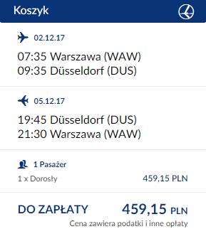 rezerwacja biletów z Warszawy do Dusseldorfu