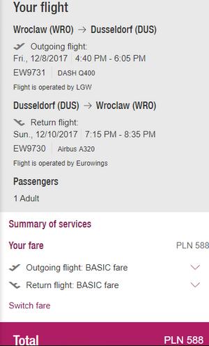 rezerwacja lotów z Wrocławia do Dusseldorfu