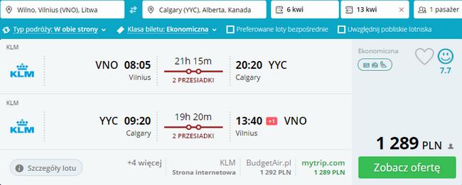 rezerwacja biletów do Calgary