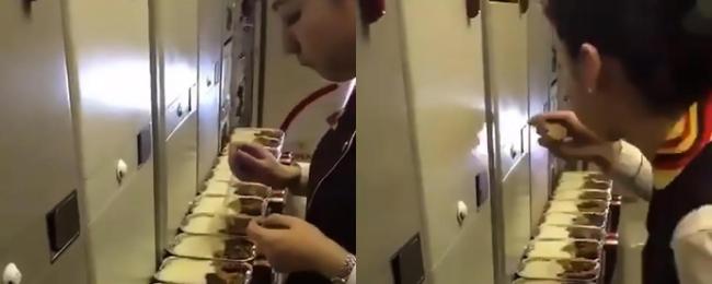 stewardesa posiłek