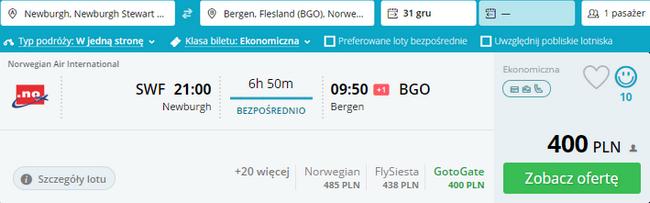 rezerwacja biletu do Bergen