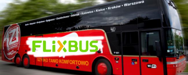Autobus PolskiBus.com z malowaniem FlixBus