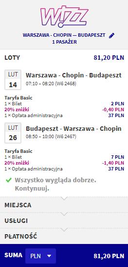 rezerwacja lotów do budapesztu