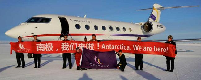 deer jet na antarktydzie