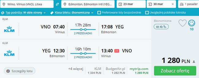 rezerwacja biletów do Edmonton