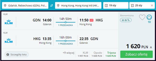 rezerwacja lotów do hongkongu