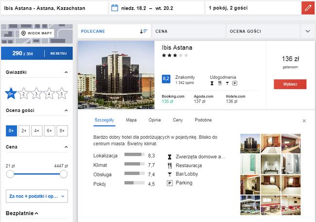 rezerwacje noclegów w kazachstanie