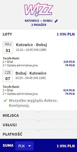 Rezerwacja lotu do Dubaju i z powrotem