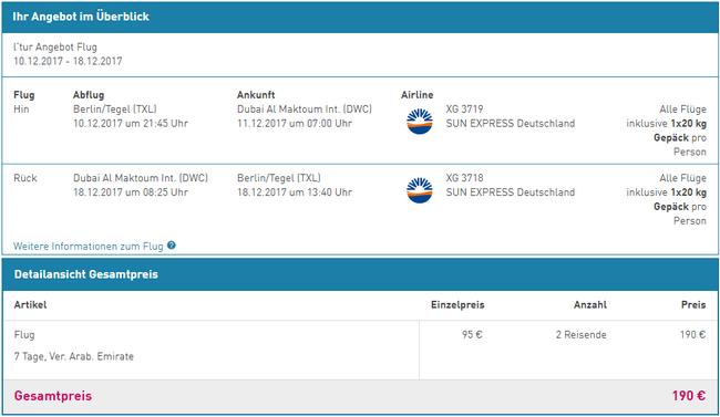 loty z Berlina do Dubaju