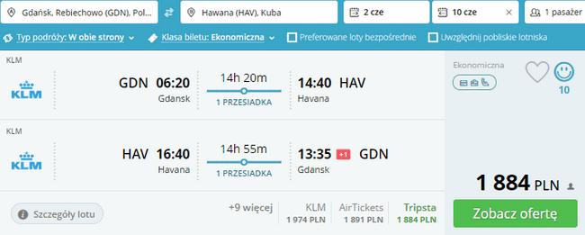 rezerwacja lotów do Hawany