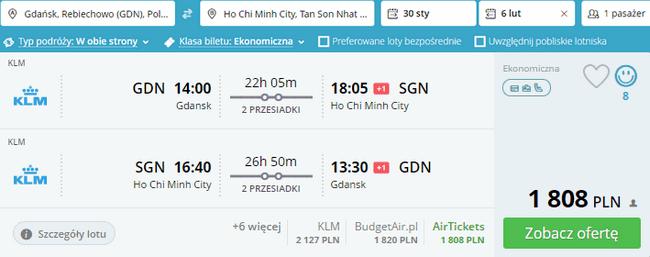 rezerwacja lotów do Wietnamu