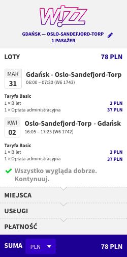 zarezerwuj lot do Oslo