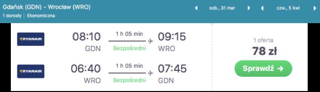 zarezerwuj lot do gdanska