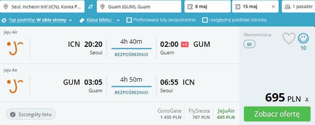 rezerwacja lotów na Guam