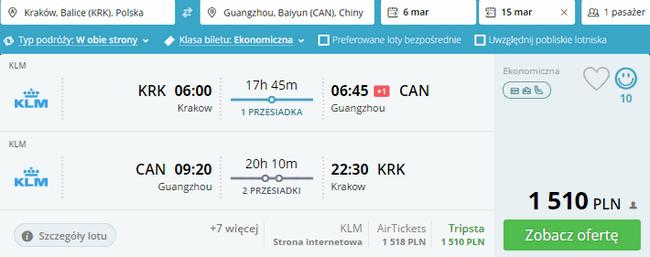 rezerwacja lotów do Kantonu