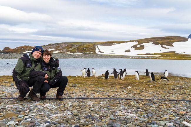 Polskie małżeństwo na Antarktydzie