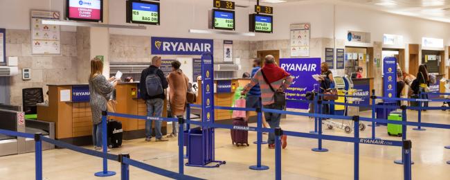 stanowiska odprawy Ryanair