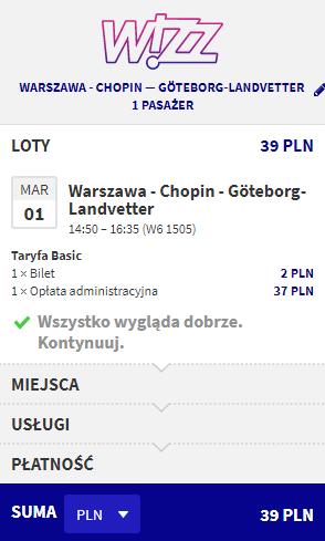 Rezerwacja lotów z Warszawy do Goteborga