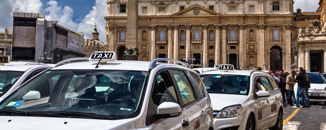 Taxi w Rzymie