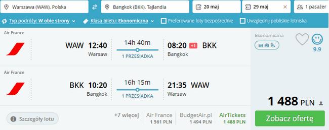 rezerwacja lotów do Bangkoku
