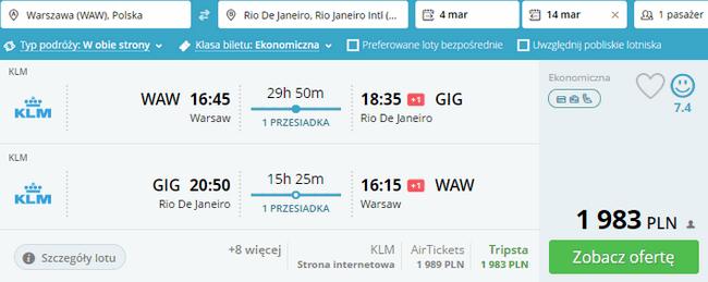 rezerwacja lotów do Brazylii