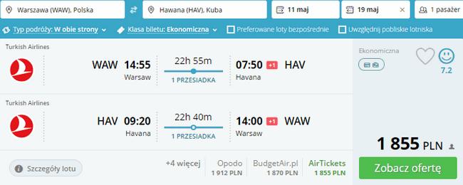 rezerwacja lotów na Kubę